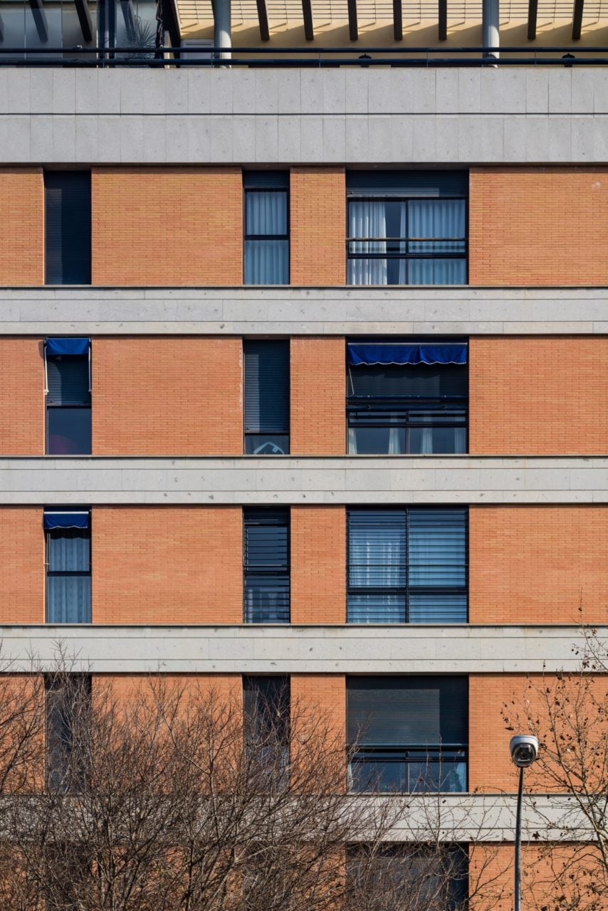 Detalle de la fachada del edificio