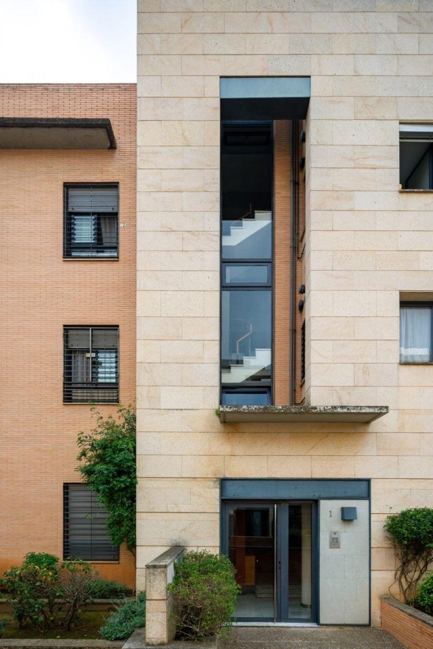 Detalle de fachada del Edificio Siena