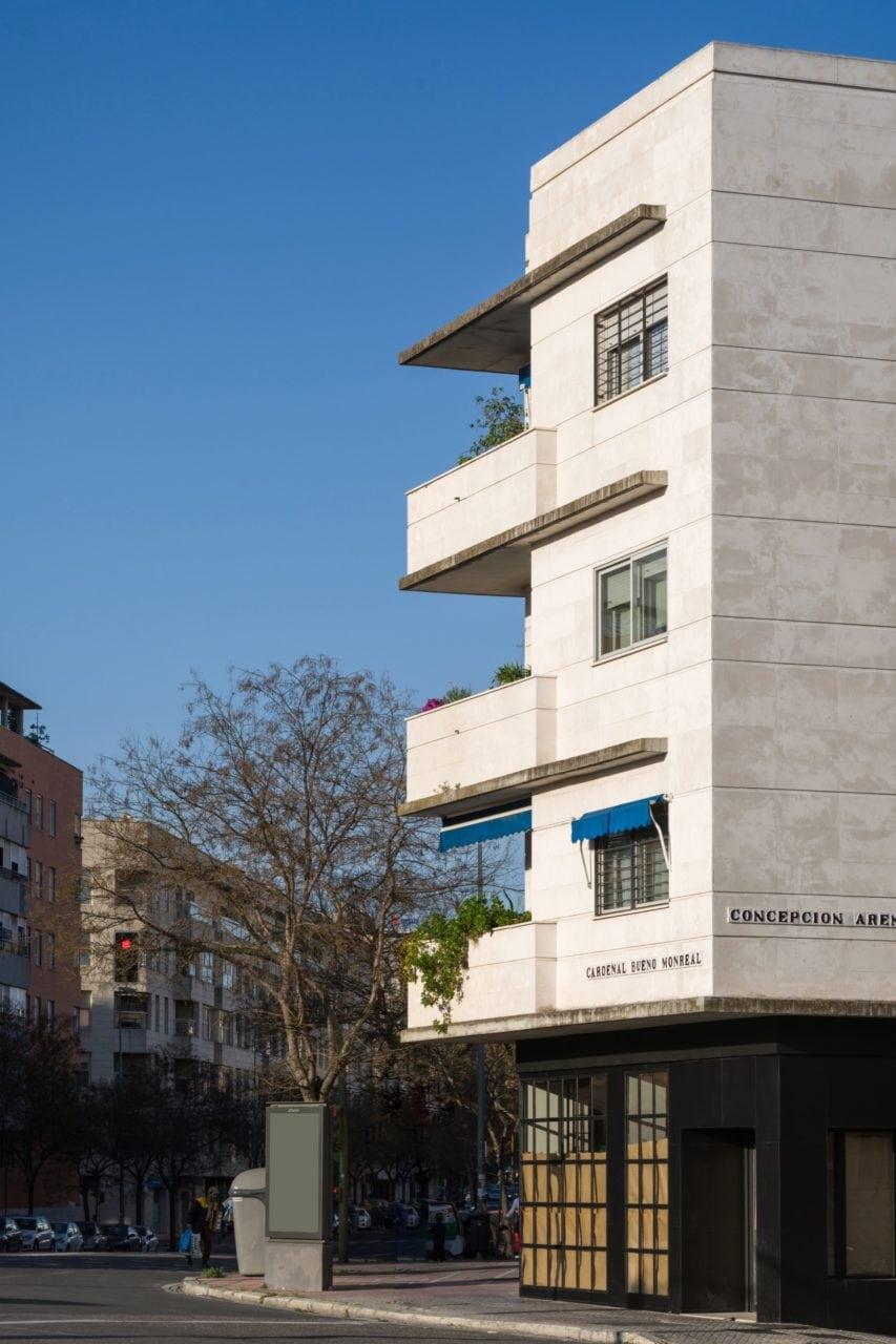 Detalle de las terrazas desde una de las esquinas