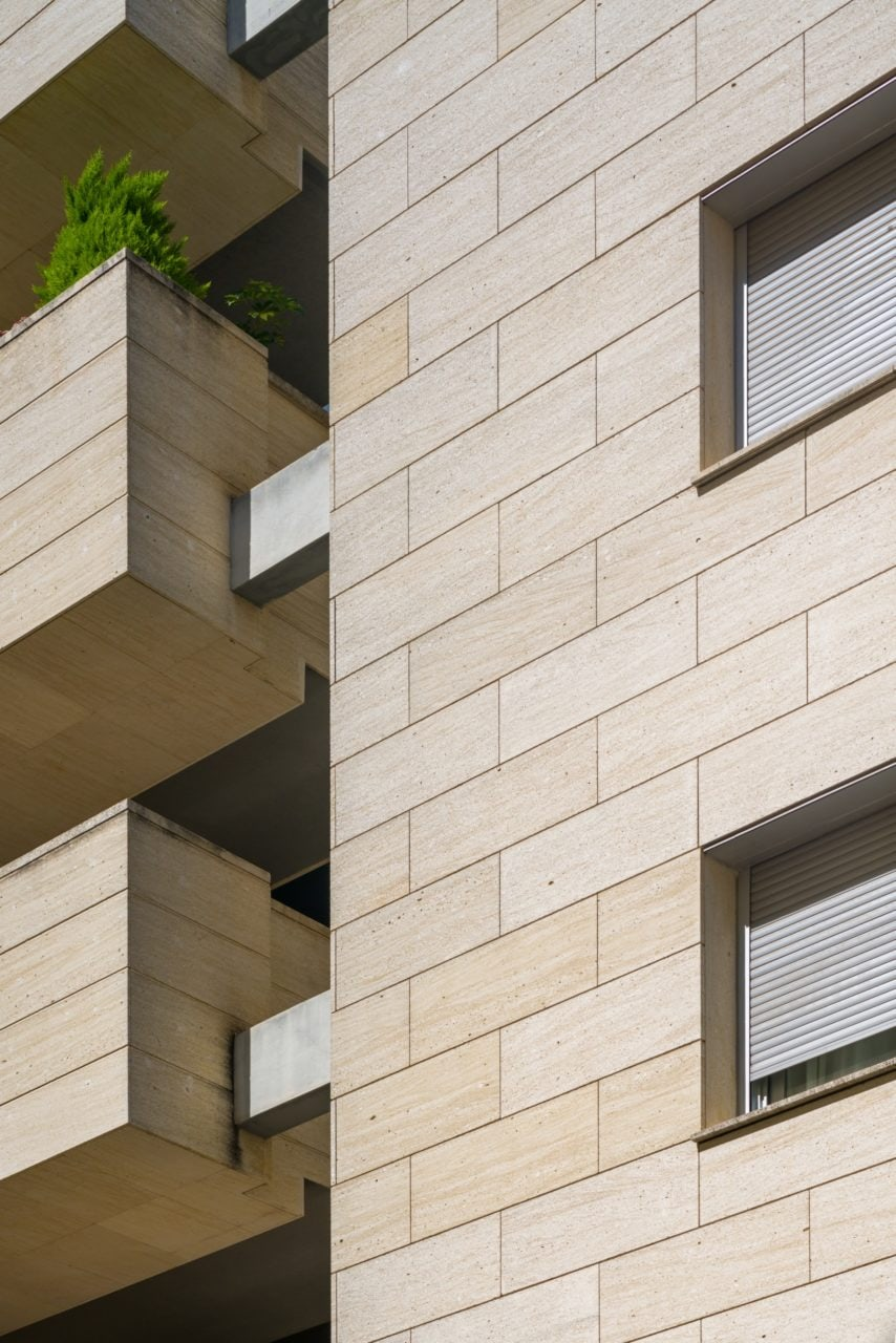 Detalle constructivo de la fachada