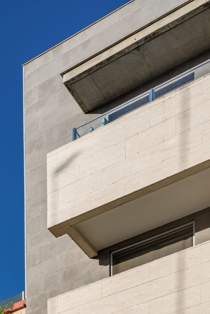 Detalle constructivo de las terrazas