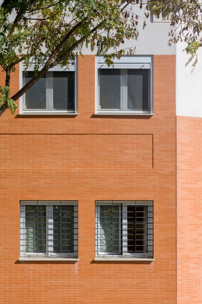 Detalle constructivo de la fachada de ladrillo