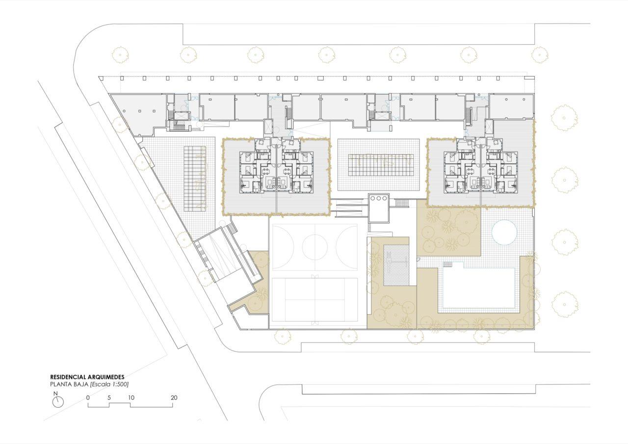 Plano planta baja Selecta Arquímedes