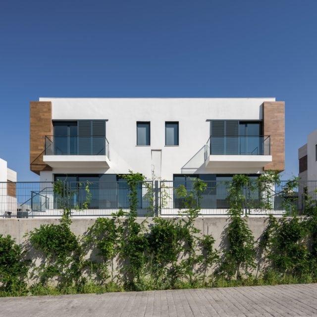Vista exterior de una vivienda unifamiliar del proyecto Boadilla Essence