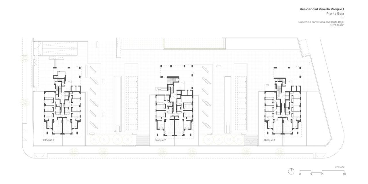Plano de planta baja Pineda Parque I