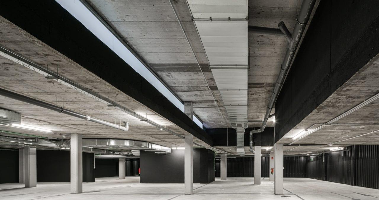 Vista panorámica del parking