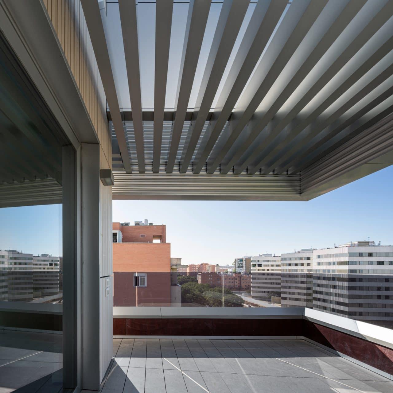 Vista desde una de las terrazas del edificio