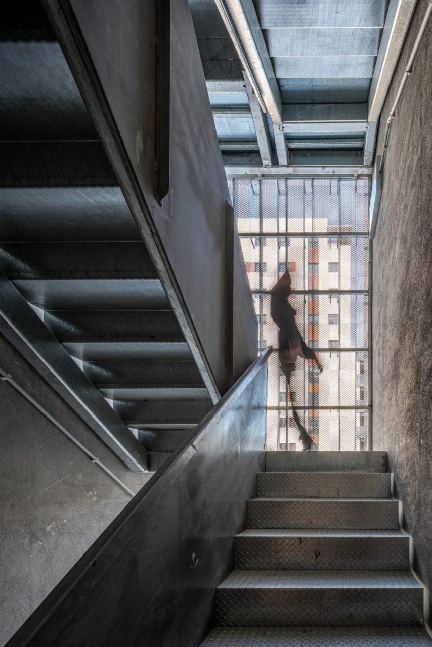 Detalle de la escalera de una de las torres