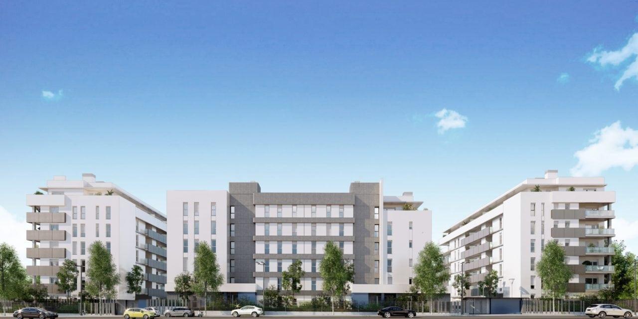 Infografía en la que se ven los 3 bloques que forman el proyecto residencial