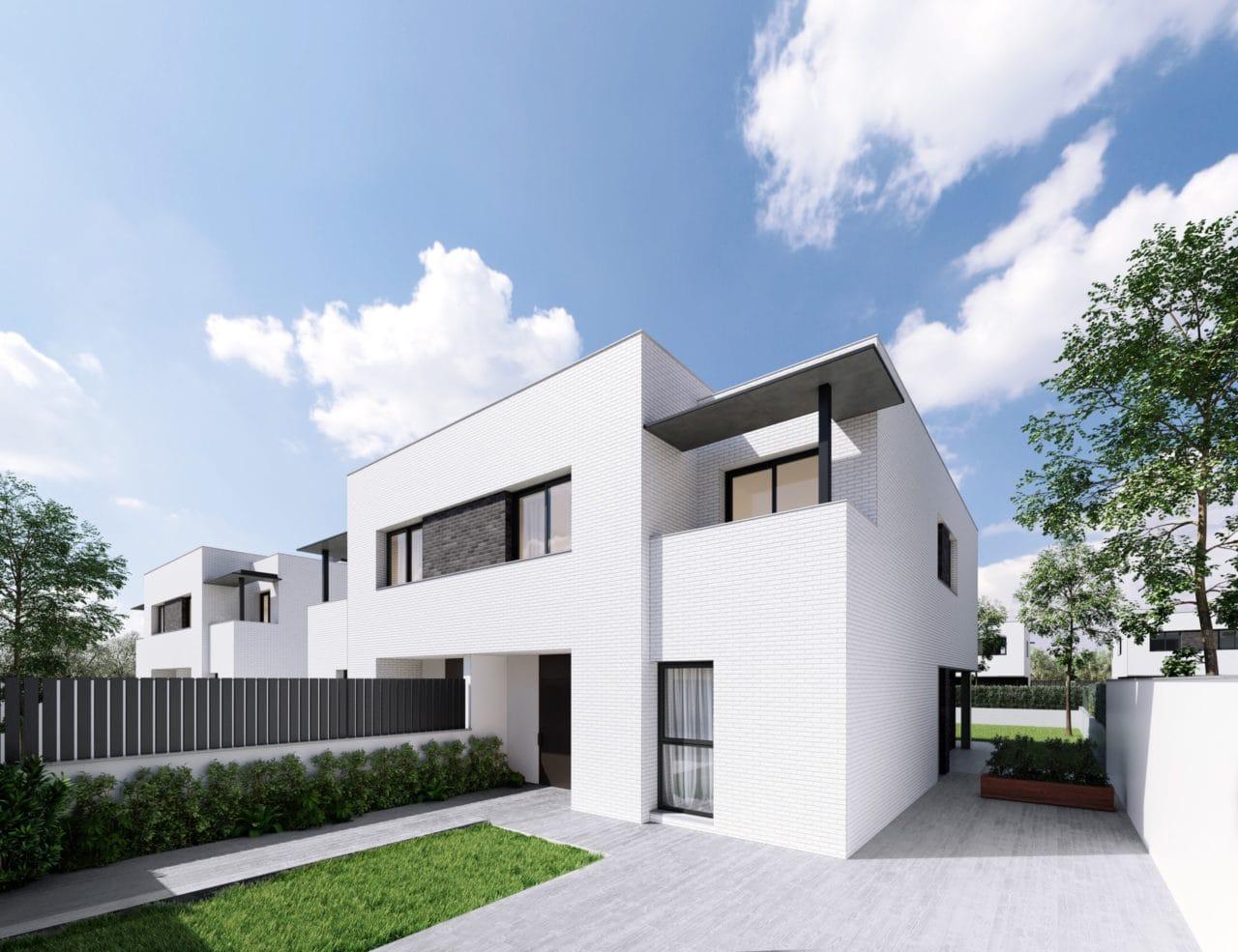 Infografía de una las viviendas del proyecto Residencial Montevilla