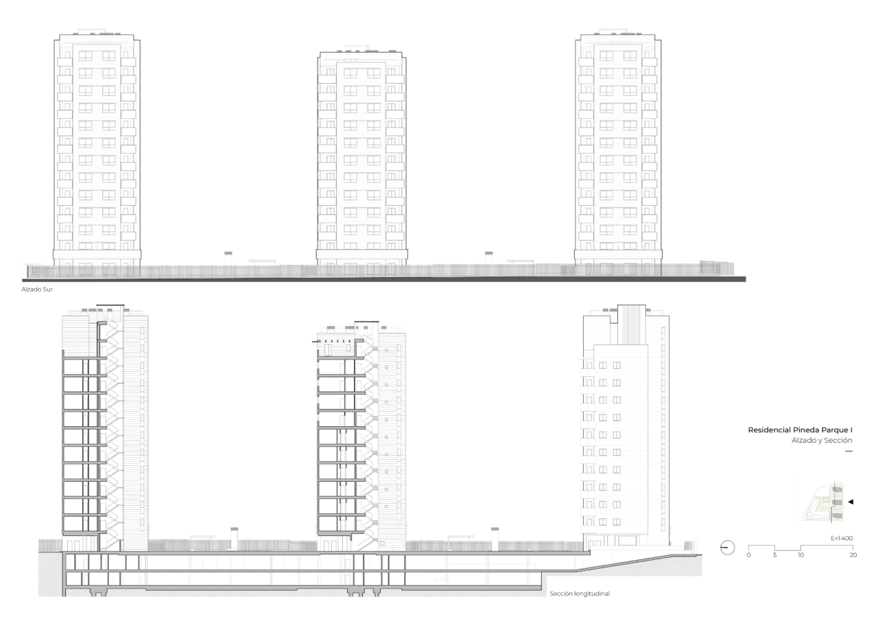 Planos alzado y sección