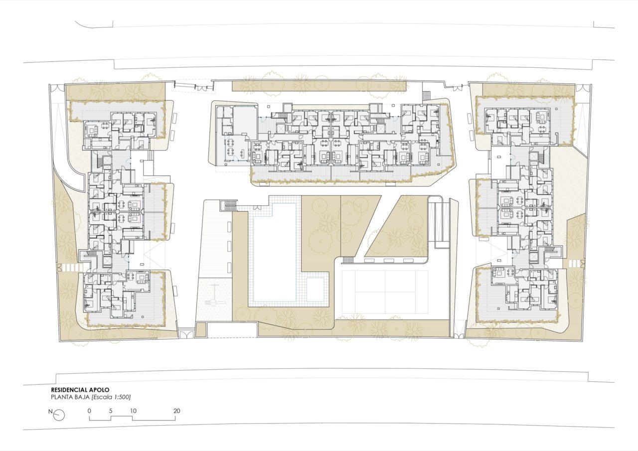 Plano de planta baja Residencial Selecta Apolo