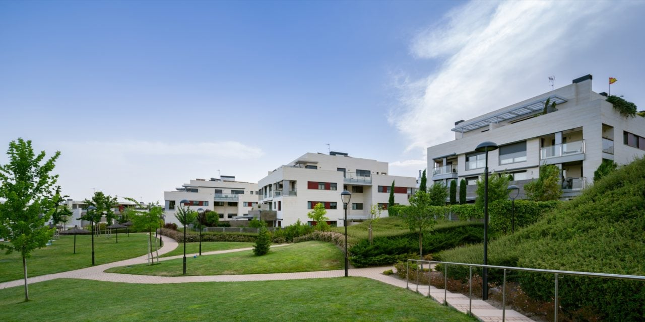 Vista panorámica de la urbanización Residencial Aravaca en Madrid