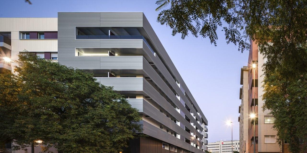 Fotografía del complejo residencial Ramón Carande