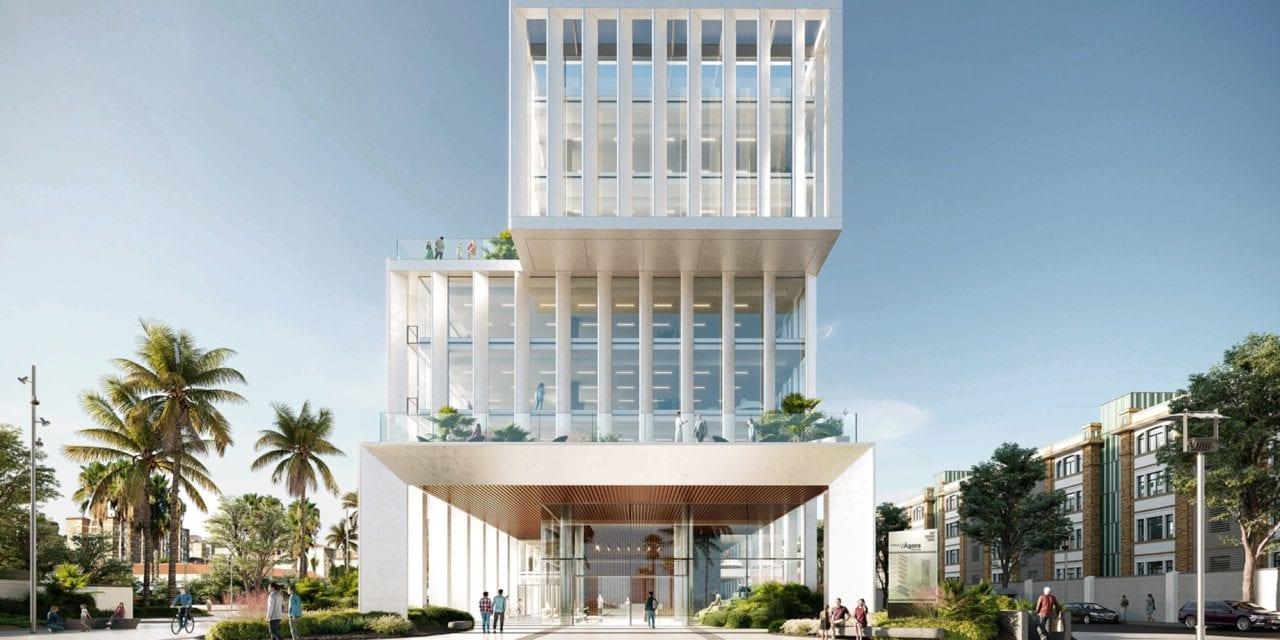 Infografía edificio Ágora