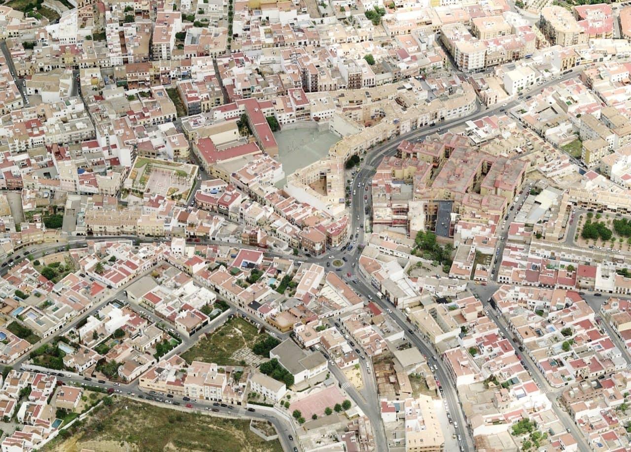 Fotografía aérea de la zona