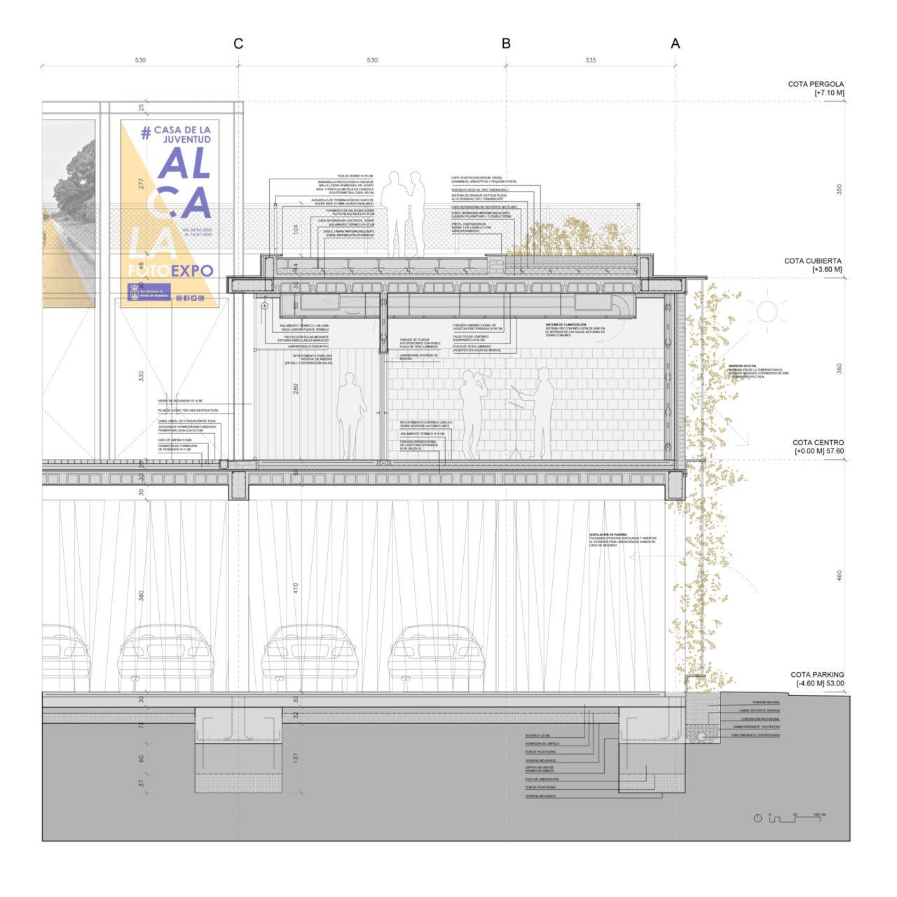 Plano de sección constructiva