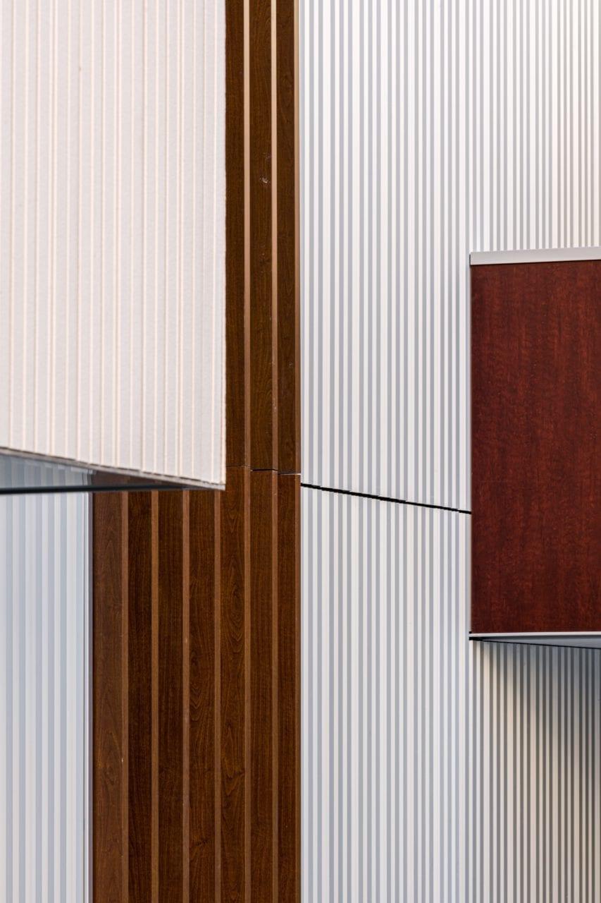 Detalle constructivo de una fachada