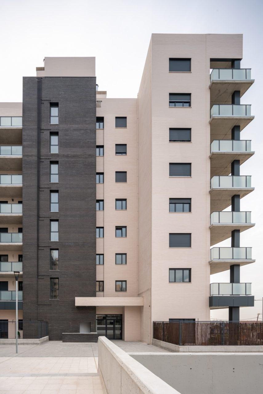 Vista del proyecto Hermes desde el interior del complejo residencial