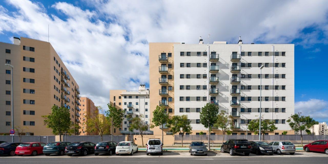Vista panorámica de las edificaciones
