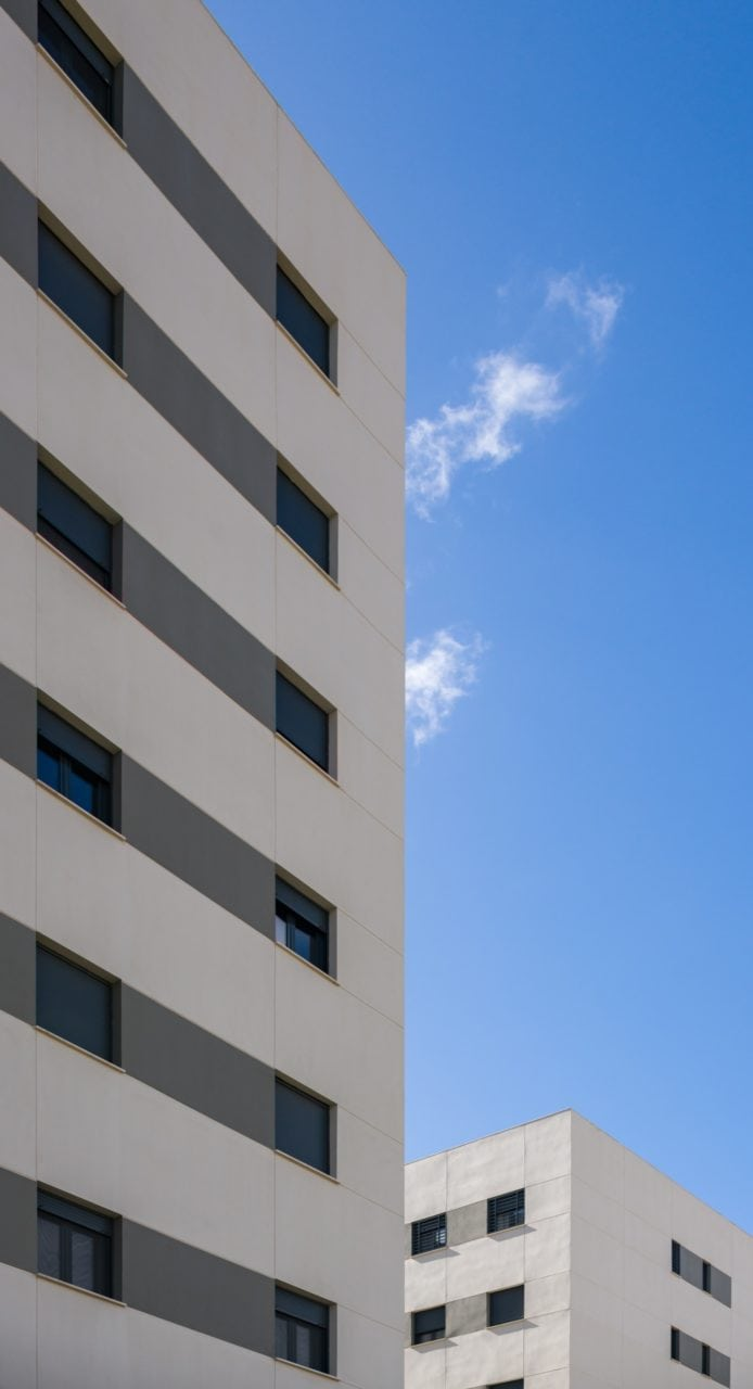 Una de las esquinas del edificio