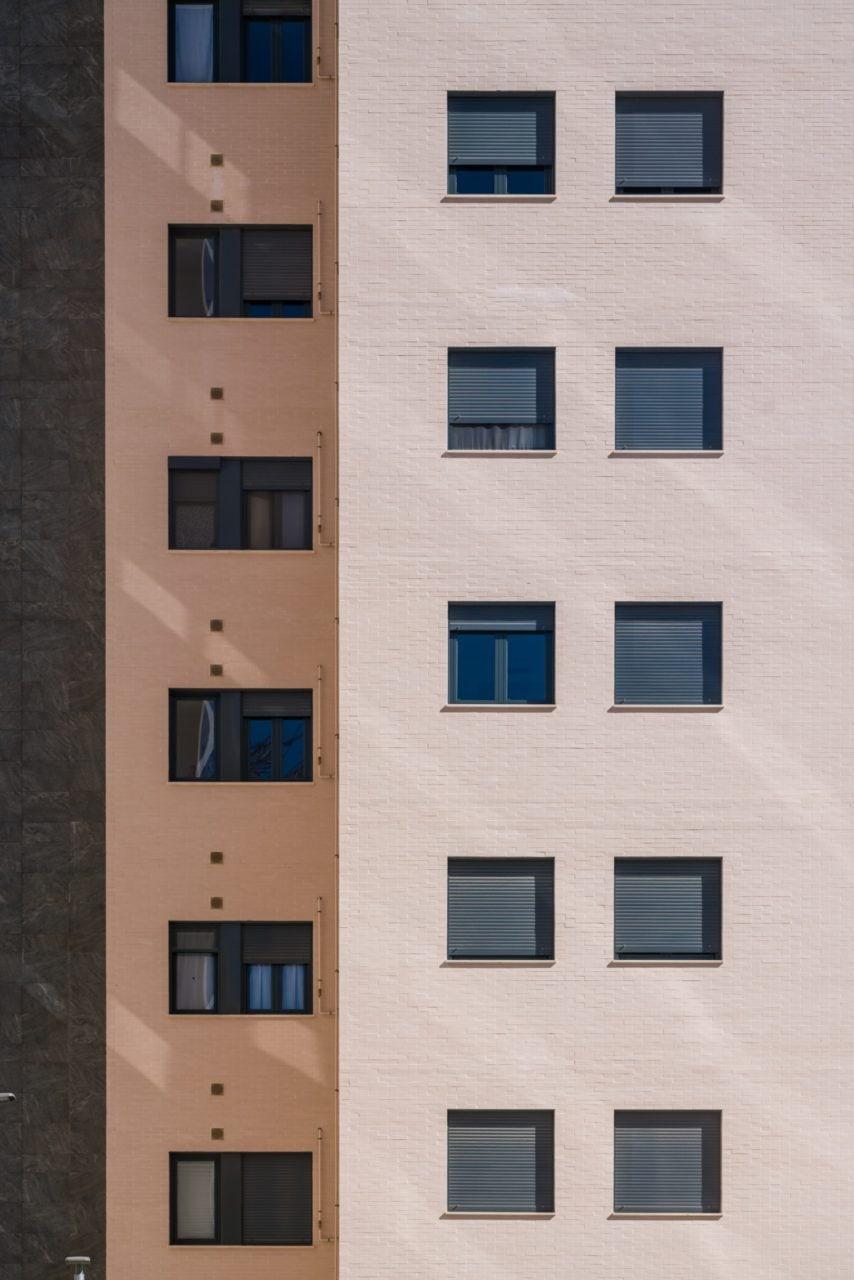 Detalle de acabados de la fachada